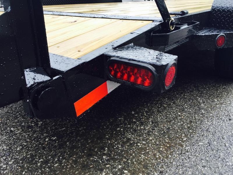 2019 Ironbull 7x18' Lowboy Equipment Trailer 9990# GVW STAND UP RAMPS