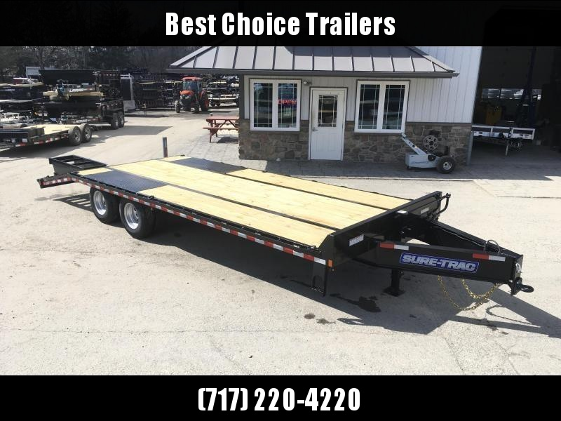2019 Sure-Trac 102x20+5' HD LowPro Beavertail Deckover 22500# GVW * OAK BEAVERTAIL/OAK DECK/OAK RAMPS * PAVER SPECIAL