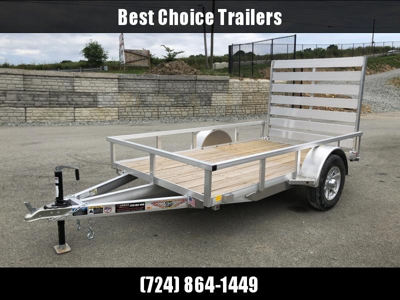 "2018 H&H 66""x10' Aluminum Utility Trailer 2990# GVW"