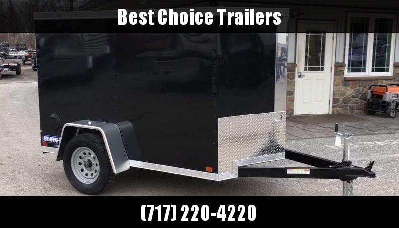 2018 Sure-Trac 5x8' Enclosed Cargo Trailer * WHITE * RAMP DOOR * STW6008SA