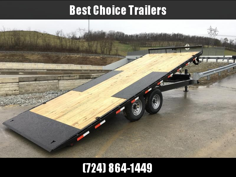 "2018 Iron Bull 102""x24' Deckover Power Tilt Trailer 14000# GVW **  FREE ALUMINUM WHEELS"