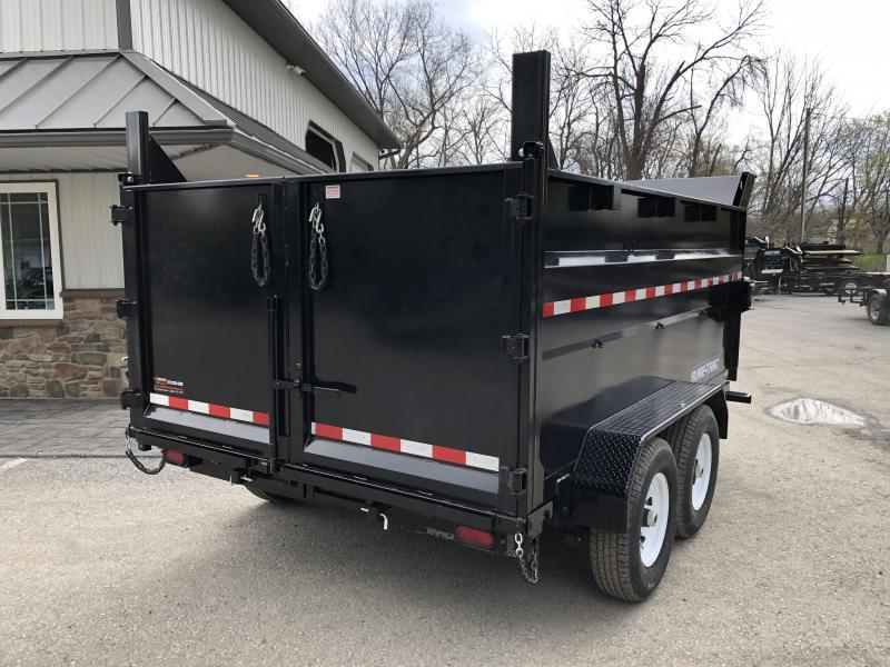 2018 Sure-Trac 7x14' LowPro Dump Trailer 14000# GVW - 4' HIGH SIDES * CLEARANCE - FREE ALUMINUM WHEELS