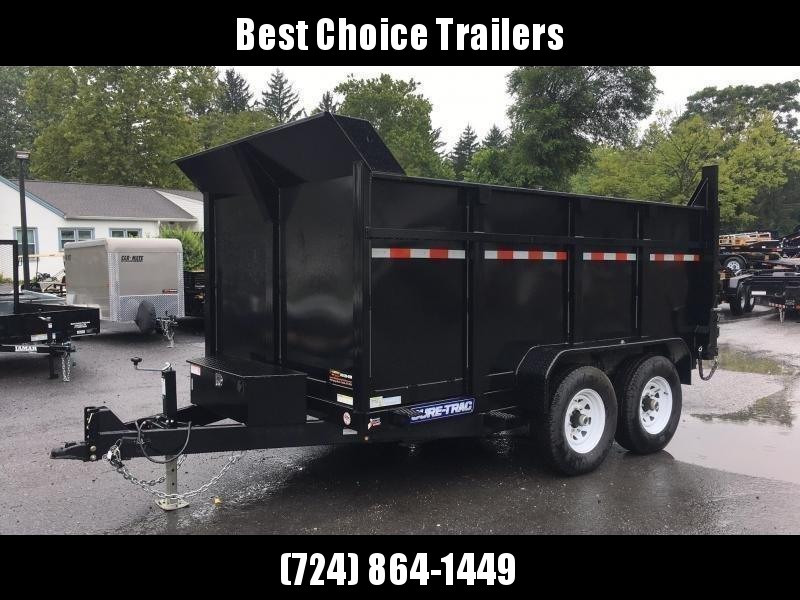 2018 Sure-Trac 7x14' LowPro Dump Trailer 14000# GVW - 4' HIGH SIDES * CLEARANCE - FREE ALUMINUM WHEELS in Ashburn, VA