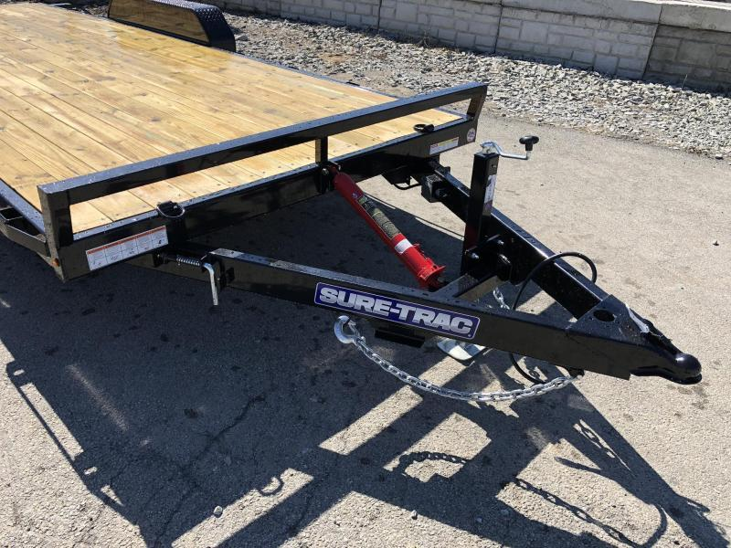 2019 Sure Trac 7x20' 9900# Manual Tilt Car Trailer * ST8220CHWT-B-100