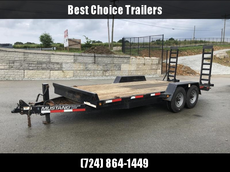 USED 2014 Mustang 7x18' Equipment Trailer 12000# GVW