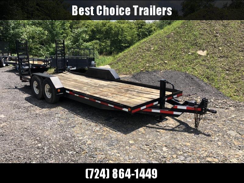 USED 7x20' Skidsteer Pan Style 14000# Equipment Trailer