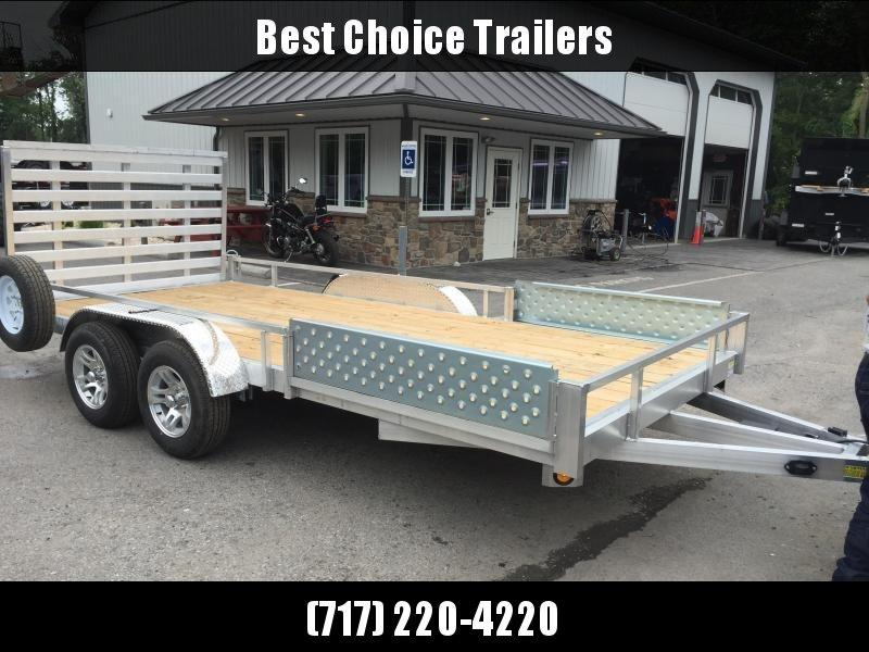 2020 QSA 7x16' Aluminum Utility Trailer 7000# GVW * ATV SIDE RAMPS