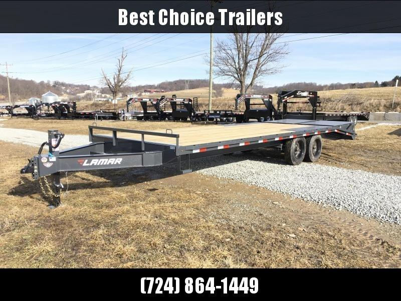"2019 Lamar F8 102x24' Beavertail Deckover Trailer 14000# GVW FULL WIDTH RAMPS * OIL BATH * CHARCOAL * 16"" O.C. FLOOR * FRONT INTEGRATED TOOLBOX"