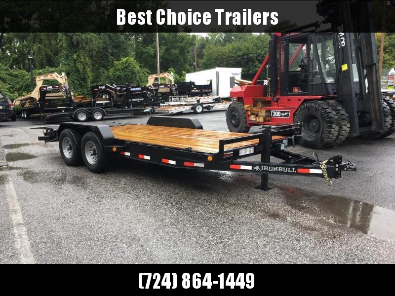2017 Norstar Ironbull 7X20' Equipment Trailer 14000# GVW - RAMPAGE RAMPS * ALUMINUM WHEELS