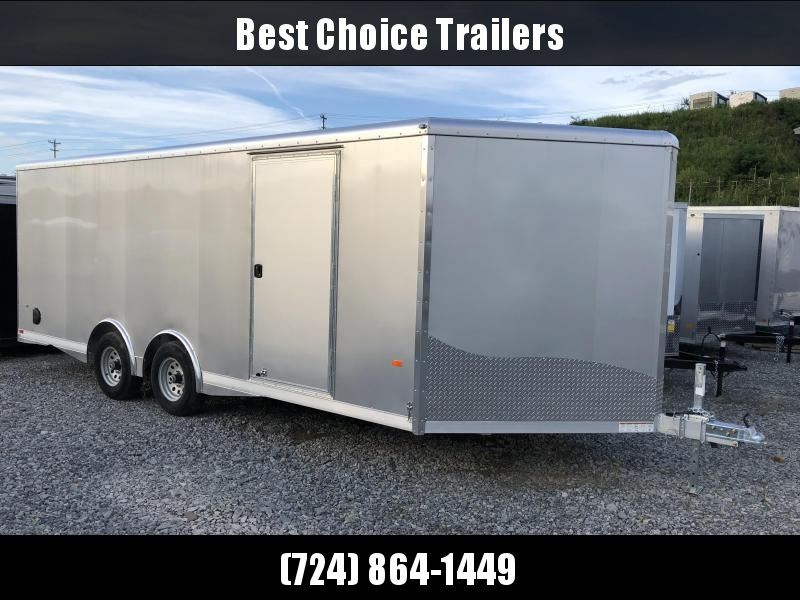 2018 NEO Aluminum 8.5x20' 9900# Spread Axle Enclosed Car Trailer NCBS2085R * NUDO FLOOR & RAMP * FULL ESCAPE DOOR