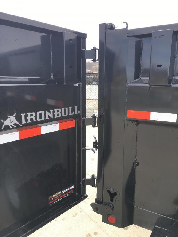 2018 Ironbull 7x16' 3' HIGH SIDES Dump Trailer 14000# GVW RAMPS * TARP * SCISSOR