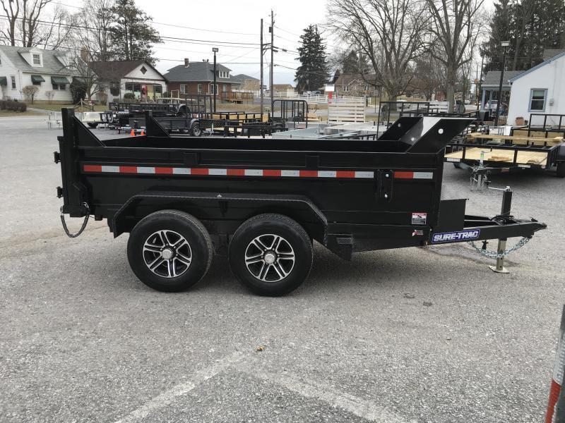 2019 Sure-Trac 6x10' LP Hydraulic Dump Trailer 9900# GVW DROP LEG JACK UNDERMOUNT RAMPS COMBO GATE
