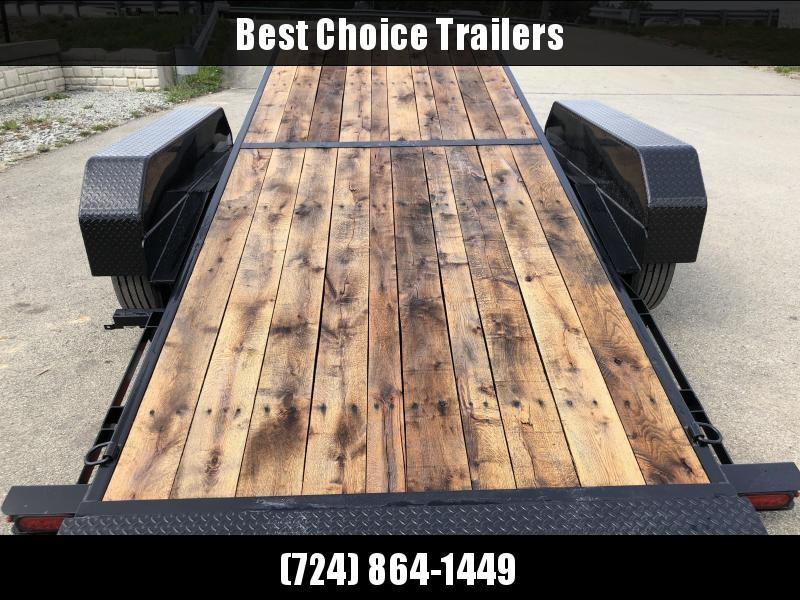 "2019 Sure Trac Gravity Tilt Equipment Trailer 7'X18+4' 16000# * OAK DECKING * 8"" TONGUE/FRAME * HD NOSEPLATE COUPLER * 12K JACK"