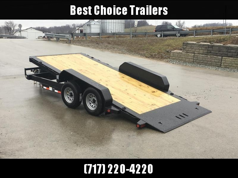 2019 Iron Bull 7x16' Equipment Trailer 9990# GVW - POWER TILT * TORSION