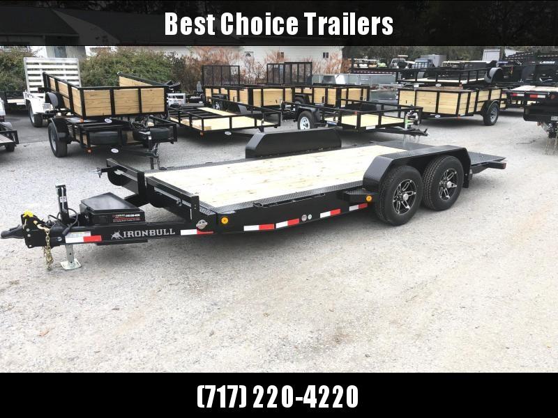 2019 Iron Bull 7x16' Equipment Trailer 9990# GVW - POWER TILT * TORSION * ALUMINUM WHEELS