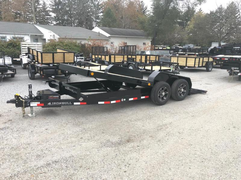 2019 Iron Bull 7x16' Equipment Trailer 9990# GVW - POWER TILT * TORSION * ALUMINUM WHEELS