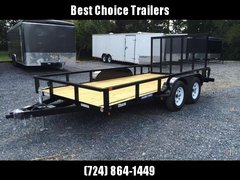 2018 Sure-Trac 7x14' Tube Top Utility Landscape Trailer 7000# GVW * CLEARANCE - FREE SPARE TIRE