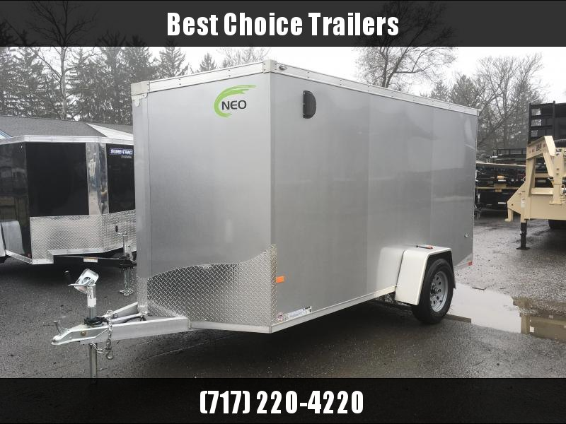 2018 Neo 6x12 NAVF Aluminum Enclosed Cargo Trailer * RAMP DOOR * SILVER