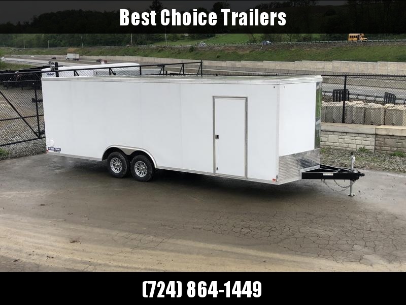 2019 Sure Trac 8.5x24' 9900# STW Commercial Enclosed Cargo Trailer * V-NOSE * RAMP DOOR * WHITE * ALUMINUM WHEELS in Ashburn, VA