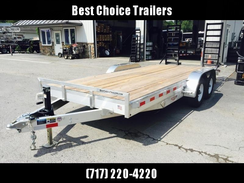 2018 H&H 7x20' HDA Aluminum Equipment Trailer 14000# GVW * STAND UP RAMPS * CLEARANCE