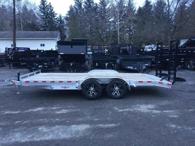 2018 H&H HAD 7x20 ALUMINUM Equipment Trailer 14000# GVW * STAND UP RAMPS * CLEARANCE