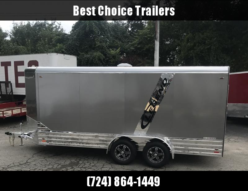 2019 Legend 7x19' Deluxe Aluminum Enclosed Cargo Trailer 719DVNTA35 * PEWTER W/ ANODIZED BOTTOM * LOADED