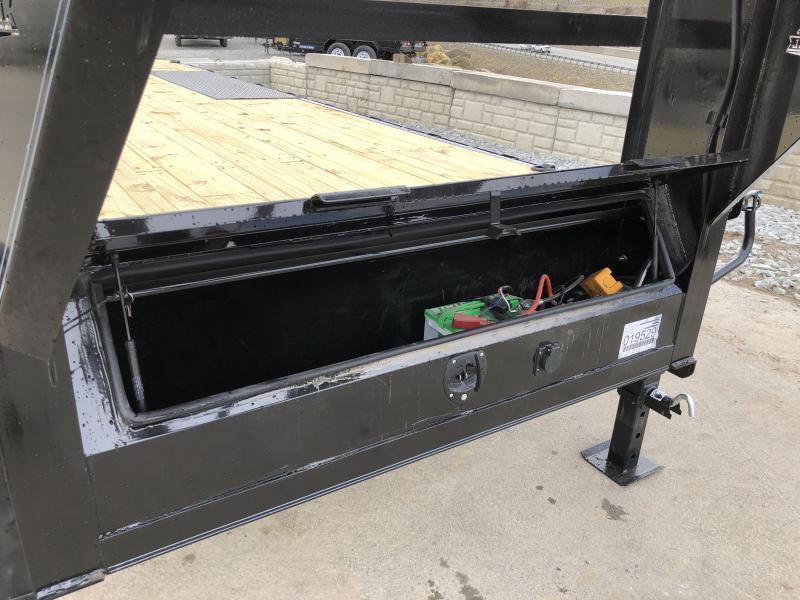 """2018 Iron Bull 102""""x24' Gooseneck Deckover Power Tilt 14000# GVW * WINCH PLATE"""