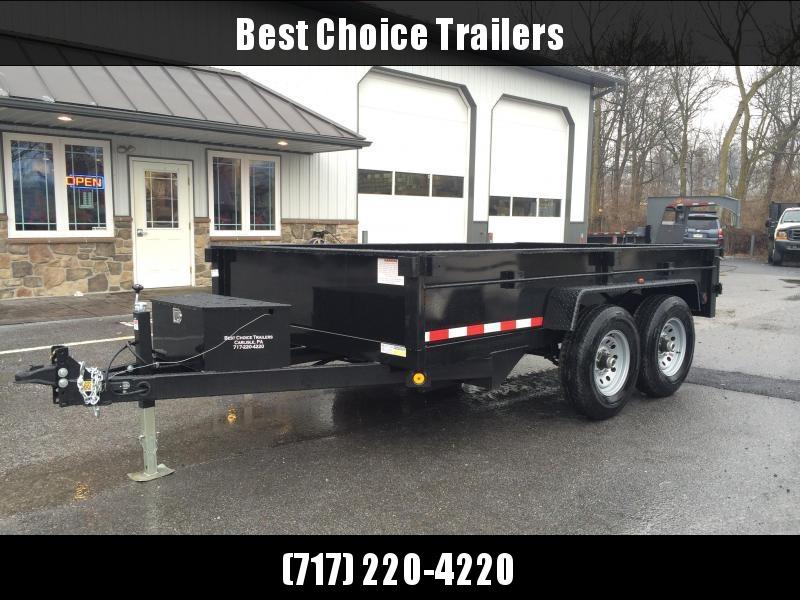 2019 QSA 7x12' Dual Ram Low Profile Dump Trailer 12000# GVW * CLEARANCE - FREE ALUMINUM WHEELS in Ashburn, VA