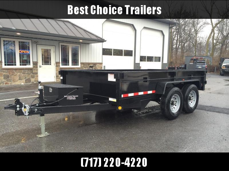 2019 QSA 7x12' Dual Ram Low Profile Dump Trailer 12000# GVW * CLEARANCE - FREE ALUMINUM WHEELS
