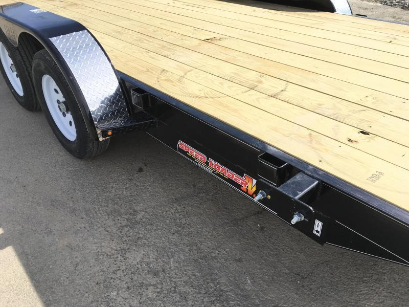 2019 H&H 7x18' MX Manual Tilt Car Hauler 7000# GVW