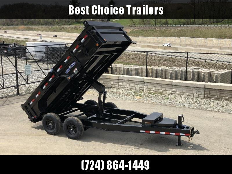 "2019 Load Trail 7x14' Dump Trailer 14000# GVW * DH8314072 * 7 GAUGE FLOOR * EXTRA 2-TIER TOOLBOX * EXTENDED TONGUE * MAX RAIL * 8"" I-BEAM FRAME * 12K JACK * 3-WAY GATE * TARP KIT * SCISSOR HOIST * 6"" TUBE BED FRAME"