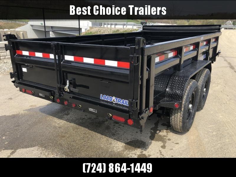 "2019 Load Trail 7x14' Dump Trailer 14000# GVW * DH8314072 * 7 GAUGE FLOOR * EXTRA 2-TIER TOOLBOX * EXTENDED TONGUE * MAX RAIL * 8"" I-BEAM FRAME * 12K JACK * 3-WAY GATE * TARP KIT * SCISSOR HOIST * 6"" TUBE BED FRAME"