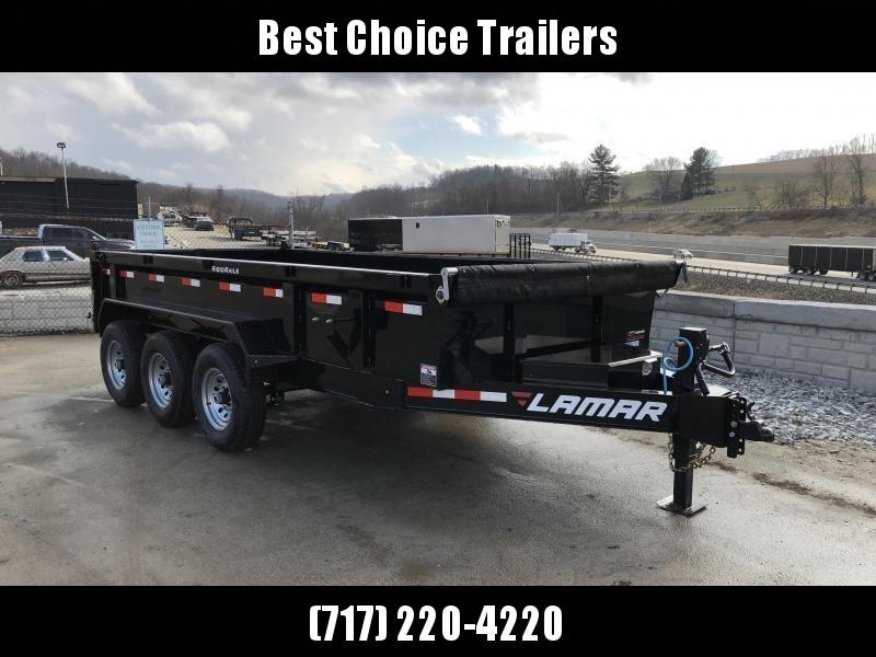 2019 Lamar 7x16' Dump Trailer 21000# GVW - TARP * RAMPS* 12K JACK 2 SPEED * 14-PLY RUBBER * REAR SUPPORT STANDS * VOLTMETER * SPARE TIRE & MOUNT