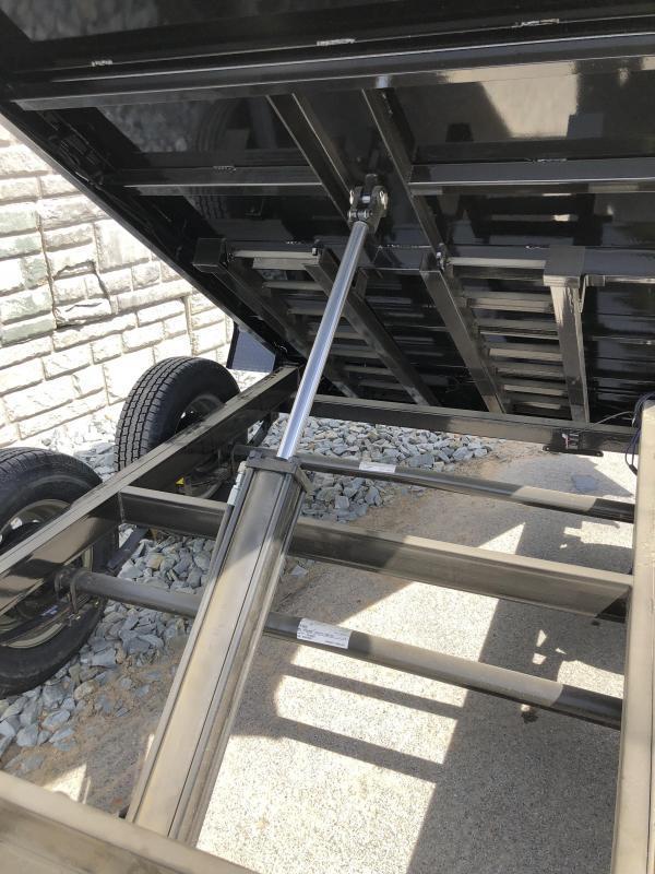 2018 Lamar 5x10' Tandem Axle DS60 Dump Trailer 7000# GVW - STANDARD * SPARE MOUNT * RAMPS * CHARCOAL