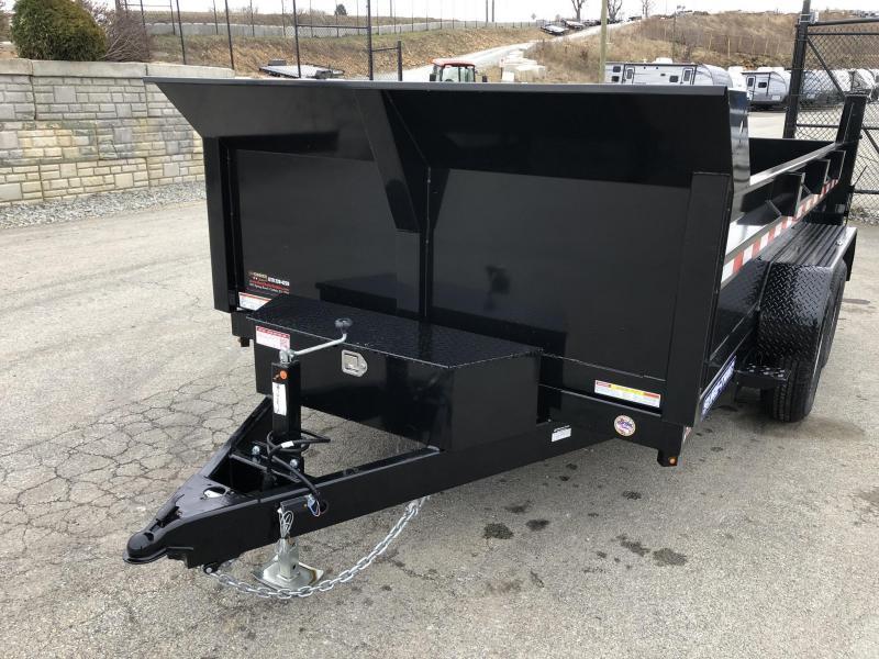 2019 Sure-Trac 7x12' LowPro Dump Trailer 12000# * DUAL PISTON - BASE