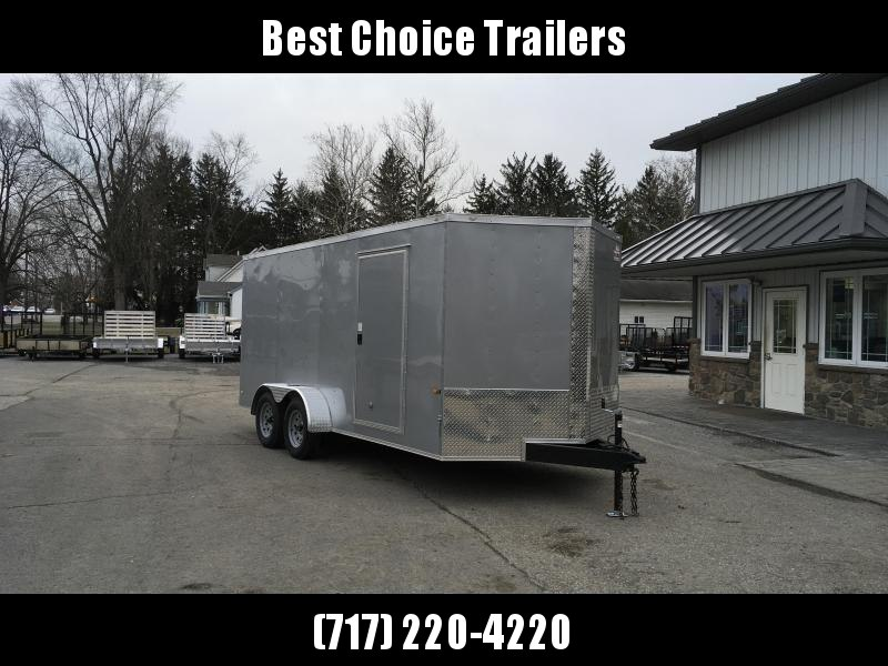 2018 Rock Solid 7x16' Enclosed Cargo Trailer 7000# GVW * BLACK