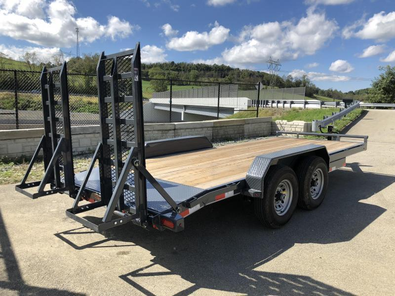 2019 Lamar 7x20' H6 Equipment Trailer 14000# GVW * DELUXE RAMPS * CHARCOAL