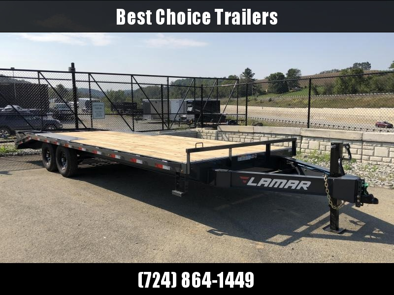 2019 Lamar F8 102x24' Beavertail Deckover Trailer 14000# GVW * 3 FLIPOVER RAMPS * CHARCOAL in Ashburn, VA