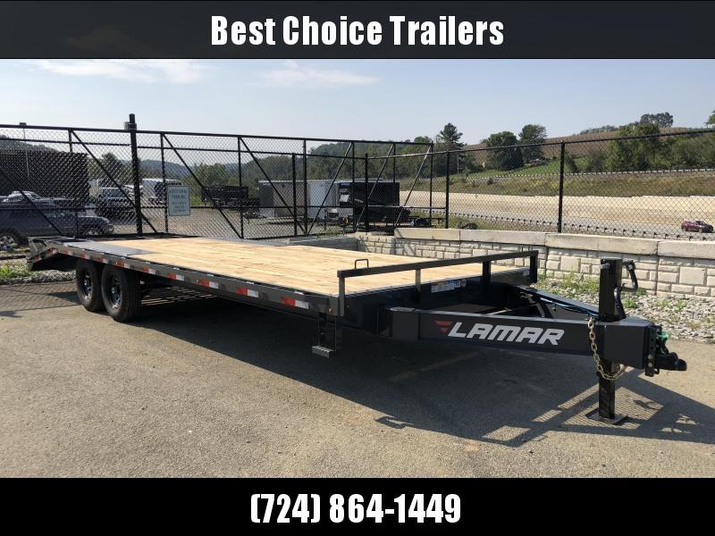 2019 Lamar F8 102x24' Beavertail Deckover Trailer 14000# GVW * 3 FLIPOVER RAMPS * CHARCOAL