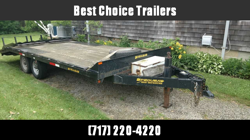 USED 2009 Pequea 18' Beavertail Deckover Trailer 9990# GVW * Full 6' HD split gate * Front toolbox