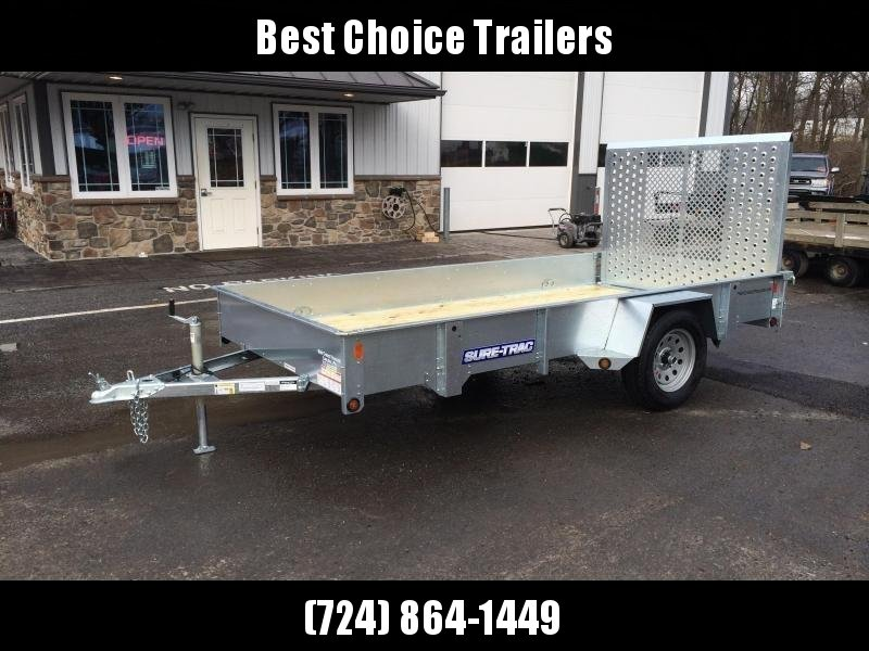 2018 Sure-Trac 6x10' Galvanized High Side Landscape Utility Trailer 2990# GVW * FREE ALUMINUM WHEELS