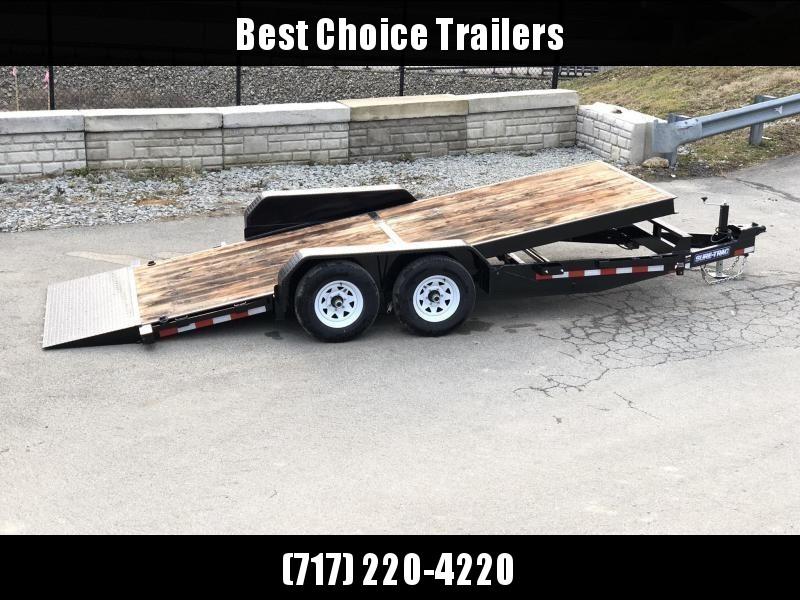 2019 Sure-Trac 7x18 Tilt Bed Equipment Trailer 9900# GVW * OAK DECK