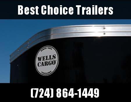 2019 Wells Cargo 5x8' Fastrac Enclosed Cargo Trailer 2990# GVW * WHITE EXTERIOR