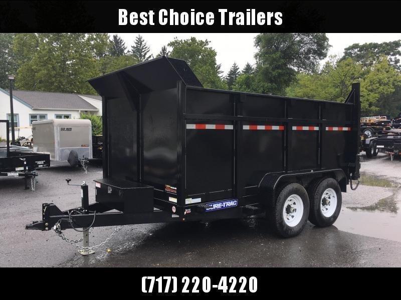 2018 Sure-Trac 7x12' Low Profile Hydraulic Dump Trailer 12000# 4' HIGH SIDES + BULKHEAD