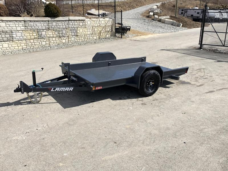 2019 Lamar 79X12' Single Axle Scissor Gravity Tilt Equipment Trailer 7000# * SH791217 * TORSION * STEEL FLOOR 3/16 * WRAPPED SIDES * EXTRA D-RINGS * SPARE MOUNT * CHARCOAL