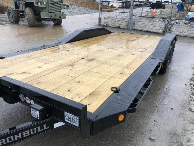 """2018 Iron Bull 102""""x20' Wood Deck Car Trailer 9990# GVW * 102"""" DECK * DRIVE OVER FENDERS * BLACK(ED) OUT FRIDAY SPECIAL - FREE ALUMINUM WHEELS"""