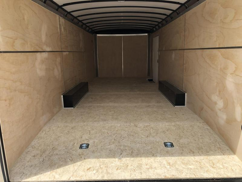 2019 Sure-Trac 8.5x24' 9900# STRCH Commercial Enclosed Cargo Trailer * ROUND TOP * RAMP DOOR  * CHARCOAL