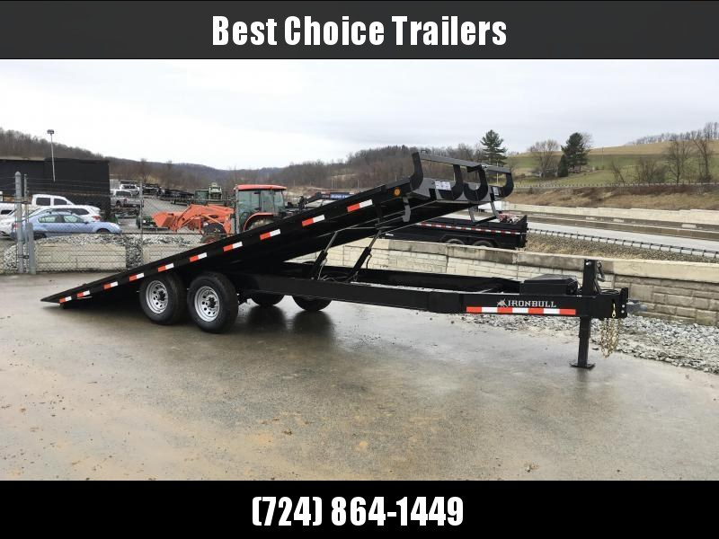 "2018 Iron Bull 102""x22' Deckover Power Tilt Trailer 14000# GVW * WIRELESS REMOTE * SPARE TIRE MOUNT"