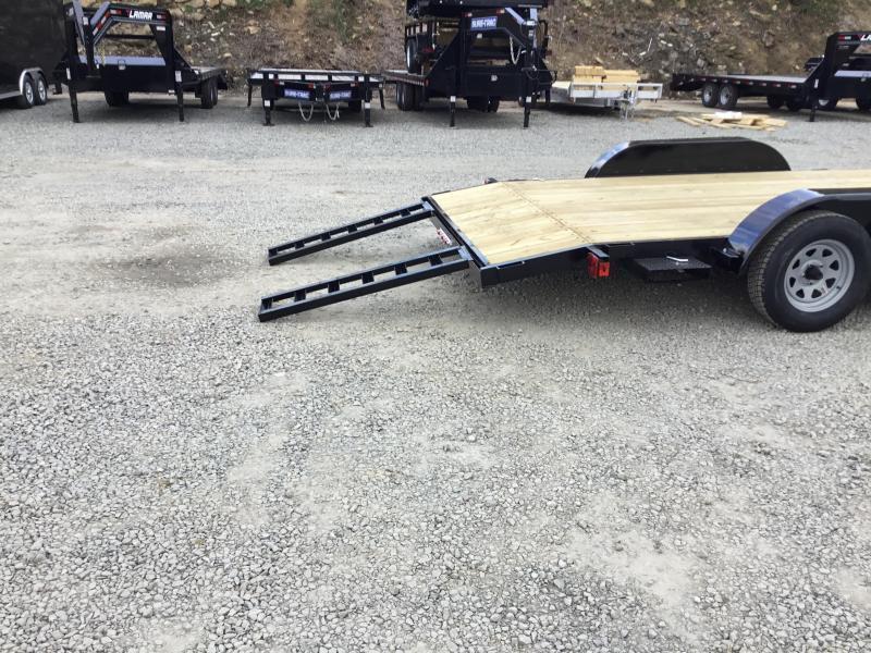 2018 AMO 7x18' Wood Deck Car Trailer 7000# GVW - ALUMINUM WHEELS