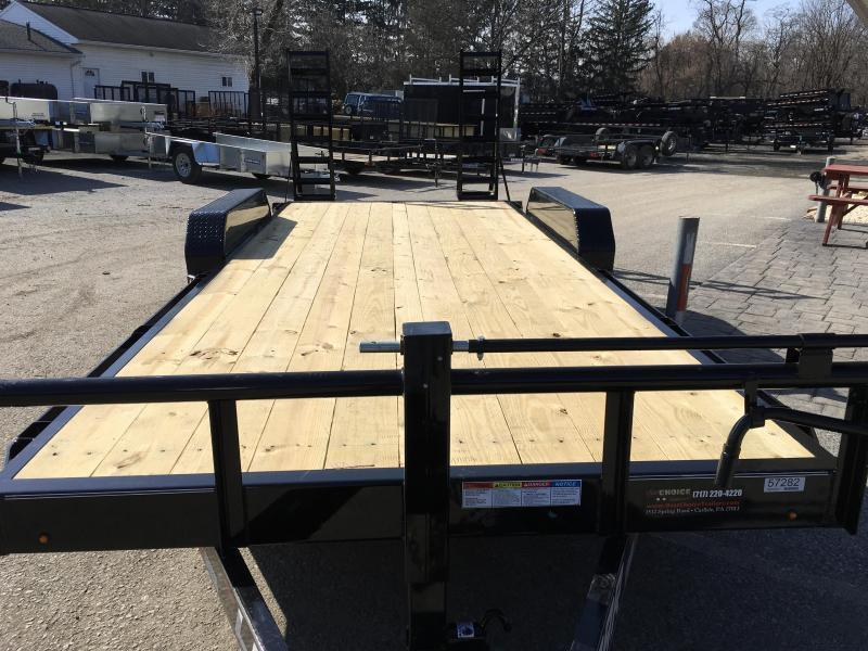 2019 Lamar 7x18' Equipment Trailer 14000# GVW * Stand Up ramps * 16
